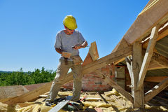 Roofer seven Royalty Free Stock Images