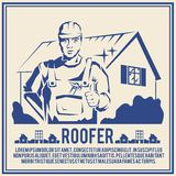 Roofer silhouette poster poster Royalty Free Stock Photo