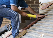 Roofer trainee Stock Images