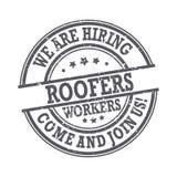Roofers - мы нанимаем, приходим соединять нас бесплатная иллюстрация