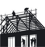Roofers and scaffolders Royalty Free Stock Photos