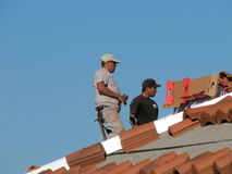Roofers Stock Image