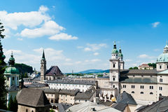 Roofes of Salzburg Royalty Free Stock Photos