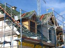 Roofing Arbeit an einem Shell Lizenzfreie Stockbilder