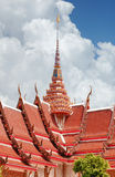 Roofing Buddhist monastery Stock Photography