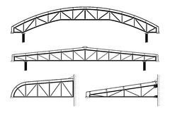 Roofing building,steel frame,roof truss collection, vector illustration Royalty Free Stock Images