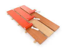 Roofing. Construction. Painting Stock Image