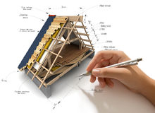 Roofing engineering Stock Image