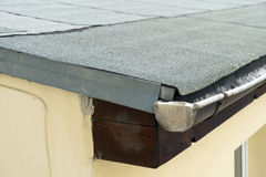 Roofing felt. Covered flat roof with roofing felt Stock Photos