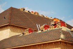 Roofing Job royalty free stock photos