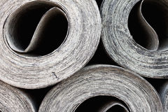Roofing material ruberoid Stock Photos