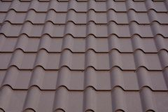 Roofing materials. Metal House roof. Closeup House Construction Building Materials. Roof construction. Roofing materials. Metal House roof. Closeup House Stock Images