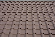 Roofing materials. Metal House roof. Closeup House Construction Building Materials. Roof construction. Roofing materials. Metal House roof. Closeup House Stock Photography