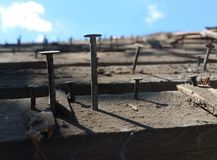 Roofing nails Royalty Free Stock Photo