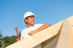 Roofing  a new house Royalty Free Stock Images
