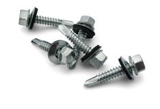 Roofing Screws royalty free stock photography