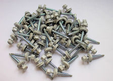 Roofing screws. Royalty Free Stock Photo