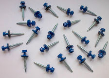 Roofing screws. Royalty Free Stock Photos