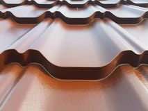 Roofing sheet. New roofing sheet royalty free stock images