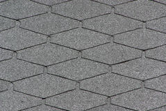Roofing shingle. Roofing shingle, background grey color Royalty Free Stock Images