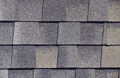 Roofing Shingles gray brown tab style pattern Stock Photos