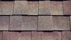 Roofing Shingles mixed rust flat tab style pattern Royalty Free Stock Image