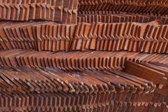 Roofing tile for construction of thai house Royalty Free Stock Photos