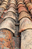 Roofing tiles. Shot of of weathered  Portuguese roofing tiles Stock Photography
