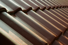 Roofing Tiles. Bakcground made of roofing tiles stock photo