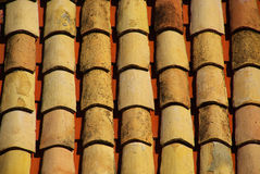 Roofing tiles 19. Many roofing tiles on a building roof Royalty Free Stock Photography