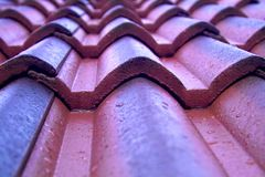 Roofing tiles royalty free stock photography