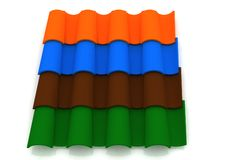 Roofing tiles Royalty Free Stock Images