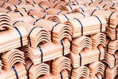 Roofing tiles packaged Royalty Free Stock Photo