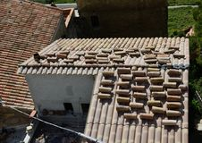 Roofing with the traditional ceramic tiles Stock Image