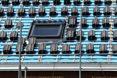Roofing work. At new build single-family house Royalty Free Stock Image