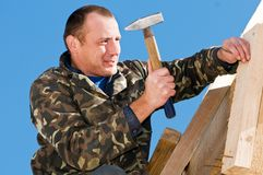 Roofing works Stock Image