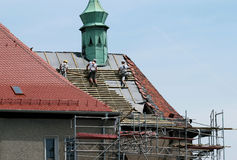 Roofing works Stock Images
