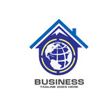 Roofing world logo. Illustrations for roofing, mountain,top  world logo concept Royalty Free Stock Images