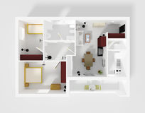 Roofless apartment stock illustration