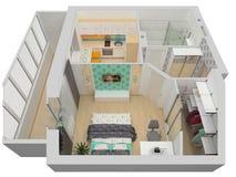 Roofless interior plan Royalty Free Stock Photo