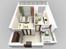 Roofless interior plan Stock Image