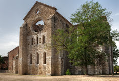 Roofless Old Cathedral Stock Photography