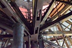 Roofline, binnenlands van vroegere Bethlehem Staalfabriek Royalty-vrije Stock Foto's