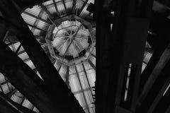 Roofline, binnenlands van vroegere Bethlehem Staalfabriek Stock Fotografie