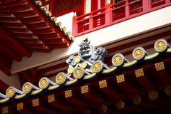 Roofline of a Buddha Temple Royalty Free Stock Image