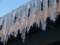 Roofline congelato Fotografie Stock