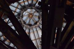 Roofline, Innenraum ehemaliger Bethlehem- Steelanlage Stockbilder