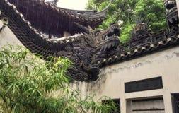 Roofline Shanghai China do jardim de Yuyuan Fotografia de Stock Royalty Free