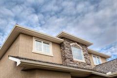 Roofline of 2-Storey House Stock Photo