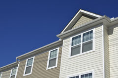 Roofline of townhouses Stock Images